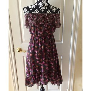 Floral Off Shoulder Dress By Maurices Size Small